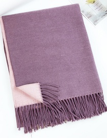 Fashion Toon Purple Dual-use Double-sided Thick Shawl Scarf