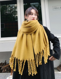 Fashion Yellow Dual-use Double-sided Rough Scorpion Thick Shawl Scarf