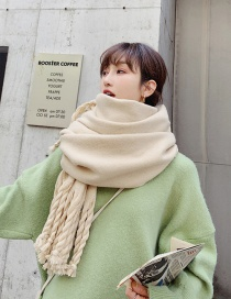 Fashion Beige Dual-use Double-sided Rough Scorpion Thick Shawl Scarf