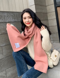Fashion Pink Cashmere Scarf Shawl