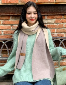 Fashion Apricot Double-faced Cashmere Thick Scarf Shawl