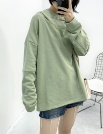 Fashion Green Hooded Sweater