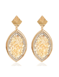 Fashion Creamy-white Colored Natural Gravel Earrings