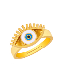 Fashion Blue Eye Drop Ring