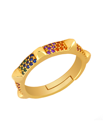 Fashion Gold Zircon Ring