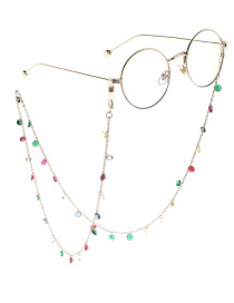 Fashion Gold Colorful Acrylic Glasses Chain