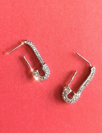 Fashion Silver (925 Silver) Full Diamond Pin S926 Silver Needle Earrings