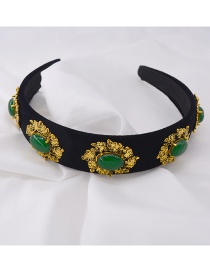 Fashion Green Wide-brimmed Green Drill Hoop