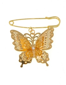 Fashion Gold Butterfly Large Brooch