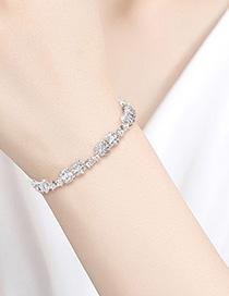 Fashion Platinum Copper Inlaid Zirconium Bracelet