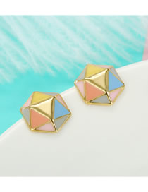 Fashion Hexagon Geometric Drip Earrings