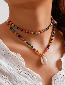 Fashion Color Rice Beads Shell Necklace