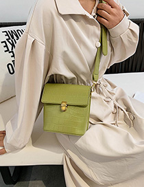 Fashion Green Crocodile Crossbody Shoulder Bag