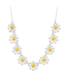 Fashion Silver Small Daisy Necklace