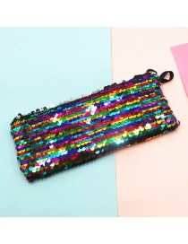 Fashion Seven Colors Mermaid Two-color Sequin Pencil Case