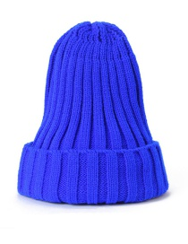 Fashion Royal Blue Knitted Woolen Pointed Hat