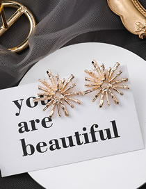 Fashion Gold Irregular Fireworks Stud Earrings