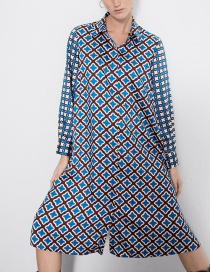 Fashion Color Printed Whistle Dress