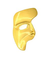 Fashion Gold Portrait Man Avatar Mask Brooch