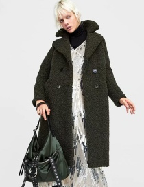 Fashion Armygreen Teddy Coat