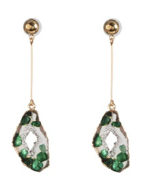 Fashion Green Geometric Drop Earrings