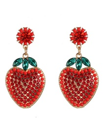 Fashion Red Strawberry Stereo Simulation Fruit Earrings
