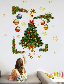 Fashion Color Christmas Ball Christmas Tree Wall Sticker