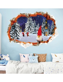 Fashion Color Christmas 3d Cycling Santa Wall Stickers