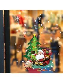 Fashion Color Christmas Wall Sticker