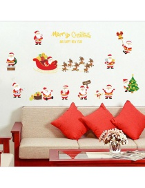 Fashion Color Christmas Gold Effect Wall Sticker