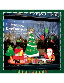 Santa Claus Christmas Tree Adhesivo De Pared Doble