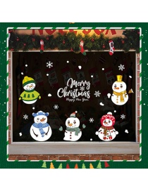 Fashion Color Snowman Merry Christmas Wall Sticker