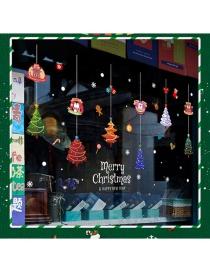 Fashion Color Christmas Tree Pendant Wall Sticker