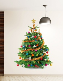 Fashion Green Christmas Tree Wall Sticker