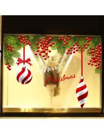 Fashion Red Christmas Hanging Ball Grape Wall Sticker
