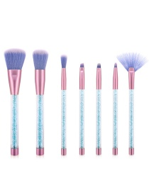 Fashion Blue 7 Sticks Of Granules With Plastic Handle Sequins