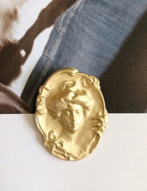 Fashion Gold Portrait Antique Coin Brooch