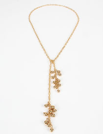 Fashion Brown Flower-shaped Imitation Pearl Necklace