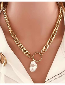 Fashion Gold Color Bear Necklace Micro-set Zircon Bear Alloy Necklace