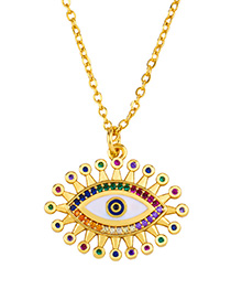 Fashion B Diamond Drop Eye Necklace
