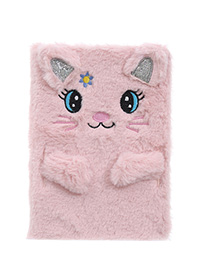 Fashion Pink Cat Cartoon Plush Rabbit Ears Notepad