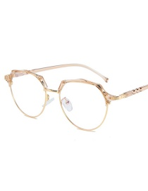 Fashion Cinnamon Frame Phnom Penh Round No-number White Screen Glasses