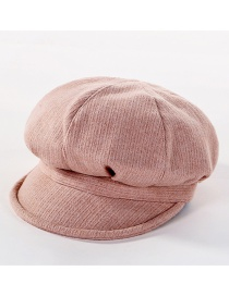 Fashion Pink Solid Color Beret