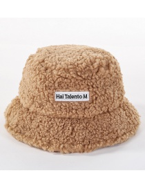 Fashion Camel Wool Velvet Letter Cap