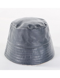 Fashion Gray Double-sided Woolen Cap