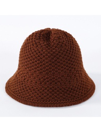 Fashion Caramel Colour Knitted Hook Wool Cap