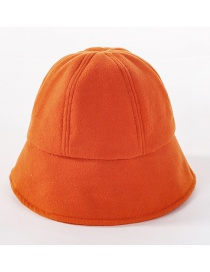 Fashion Orange Wool Fisherman Hat