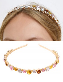 Fashion Gold Alloy Rhinestone Headband