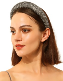 Fashion Black Alloy Rhinestone Headband