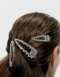 Fashion Big Diamond Alloy Rhinestone Hair Clip